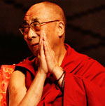 Photo of Tenzin Gyatso, the current Dalai Lama of Tibet