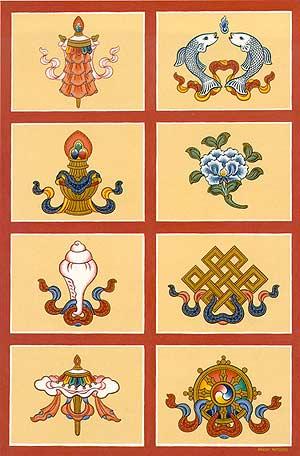 Tibetan Symbols The Eight Auspicious Symbols
