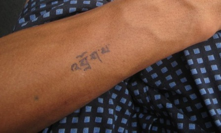 Homemade Temporary Tattoos: Do it yourself Tibetan tattoos.